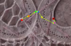 移動する際の糸の動きを示した図
