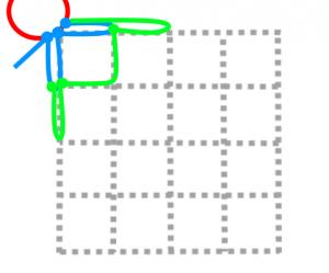 正方形の2段目