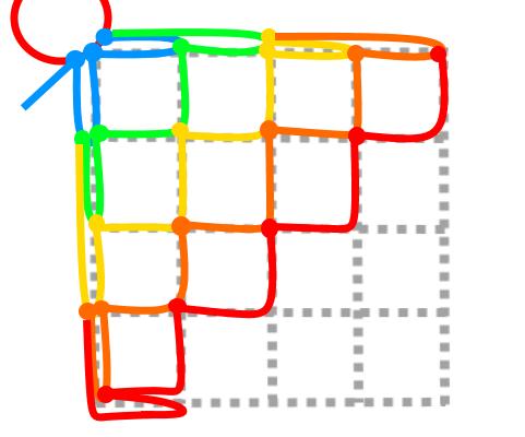正方形の5段目