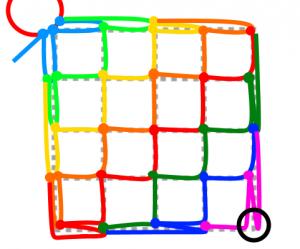 正方形の7段目と8段目