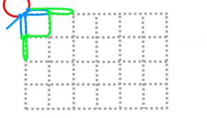 長方形の2段目