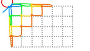 長方形の3段目と4段目