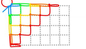 長方形の5段目