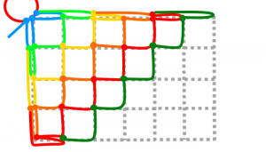 長方形の6段目