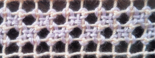 フィレレースの刺繍-その他のかがり方例
