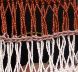 2ループずつループがねじれるように細編みつなぎ