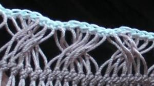 通さずにクロスさせる縁編みする方法